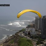 Our student Flying in Miraflores / Parapente Lima