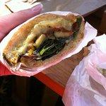 Hot Veggie Sandwich