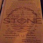 Sampling from the menu