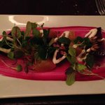 The beet and goat cheese salad