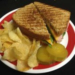 Grilled panini and zesty garlic pickles