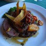 Lamb dinner at Lake Ohau Lodge