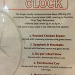 Beat the Clock specials Daily 4-6p.m.