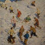 Alfons Walde: Auf dem Schihügel