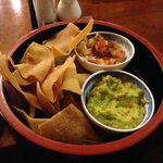 Mexican chips and guacamole