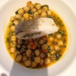 Chickpea stew with cod