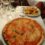 Great Combo to Share: Margarita Pizza and Rigatoni with Squash and Sausage
