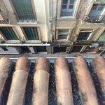 Street below view from balcony