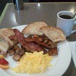 breakfast at Jolly Frier Cafe - Winnipeg Norwood Hotel