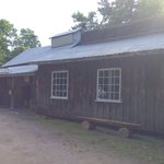 The outside of the sugar shack