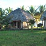 vue de notre bungalow, tout proche de la plage