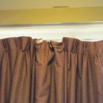 curtains in shambles!
