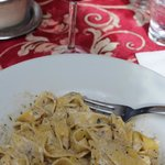 home made pasta with funghi and tartufi