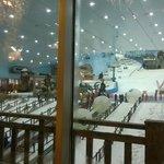 View of Ski Dubai from Apres