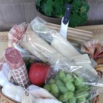 cheese basket for your vineyard tour