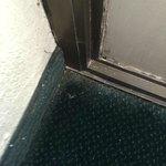 corner of floor under the windows