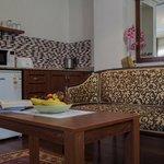 Kitchenette in studio suite room