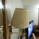 Seems a lamp shade from a local store is needed here to replace the dirty stained one's in the r