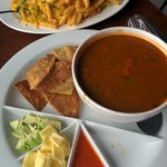chicken rice and tortilla soup