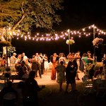 Wedding venue at night
