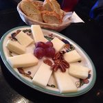 Three cheese plater