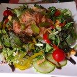 specially made smoked salmon salad