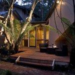 Garden Retreat at night