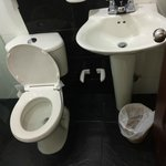 bathroom disgusting, no hot water