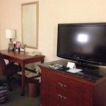 Desk/TV area in sitting area - King Suite