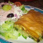 Spinach Pie with Greek Salad