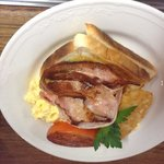 Bacon and eggs $5.95