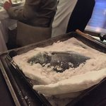 Salt encrusted fish
