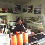 pub area with barman