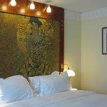 Bedroom in a Klimt motif
