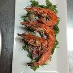 Sriracha grilled wild shrimp & minted yogurt salad