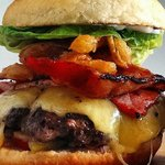 Big Eats Co. stacked burgers