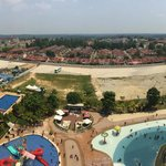 View over the pool from 10th storey