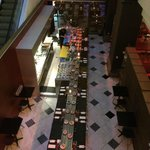 Looking down to the GPO dining area from the ground floor of the Westin.