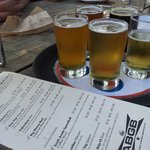 you can order a variety of beers in small servings