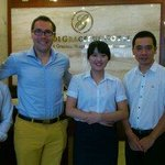 Mr. Lee, me/Paul, Mrs. Ngan and the hotel manager