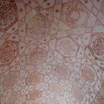 Teto pintado - pavimento inferior