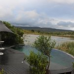 Infinity pool and water hole