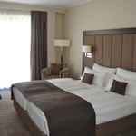 Our bright and charming room in elegant taupe