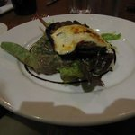 A starter with mushroom and mozarella