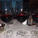 Pinot noir wine flight