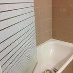in die Badewanne gefallene Lüftungsabdeckung