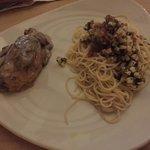 Pollo con champinones y coco