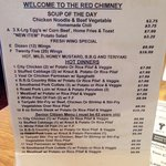Nice synopsis of daily dishes.  Very large menu from breakfast thru dinner is also given at the