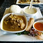 Beef curry lunch combo!