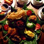 Nasi golong family package for 4 pax. Taste was great !